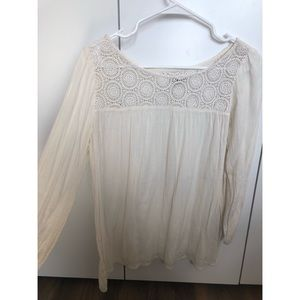 Denim and Supply Ralph Lauren Ivory Lace Blouse